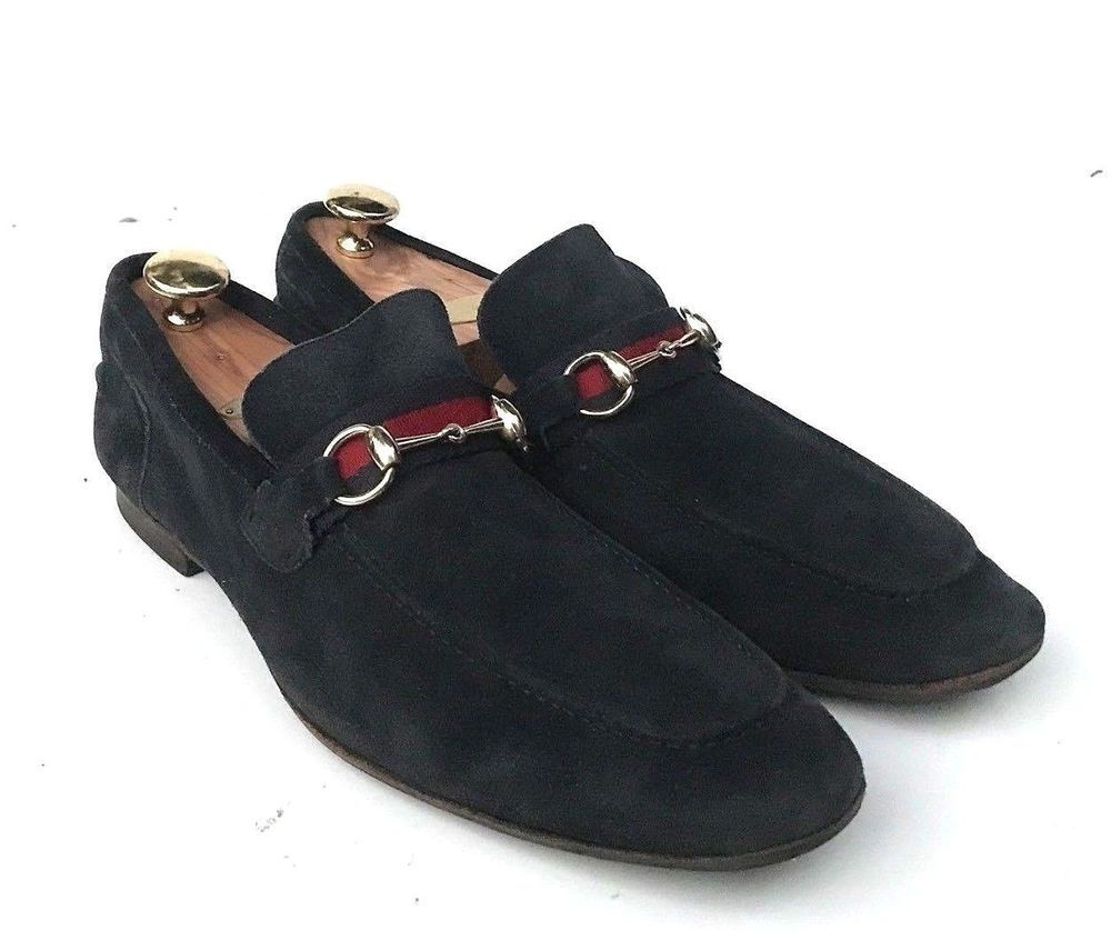 fb64f7d6b9f GUCCI BLUE SUEDE HORSEBIT WEBBING LOAFERS SLIP ON SHOES SIZE 11 US 12   fashion  clothing  shoes  accessories  mensshoes  casualshoes (ebay link)