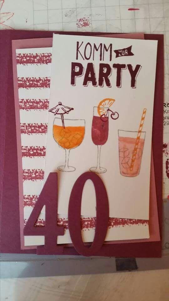 Einladung 40. Geburtstag | Einladungen, Geburtstag, Party