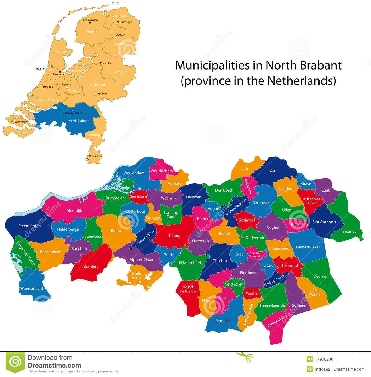 North Brabant Province Of The Netherlands Stock Photo Image