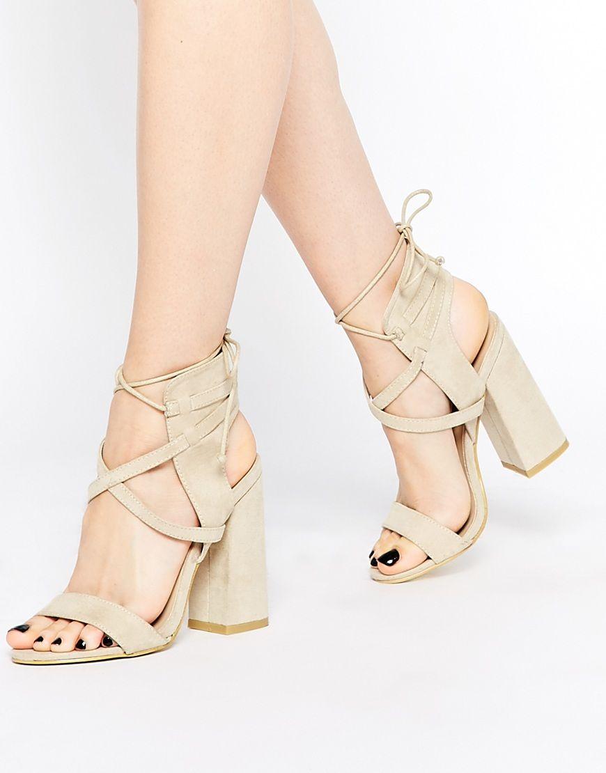 599f960bd30 Daisy+Street+Block+Heel+Lace+Up+Heeled+Sandals