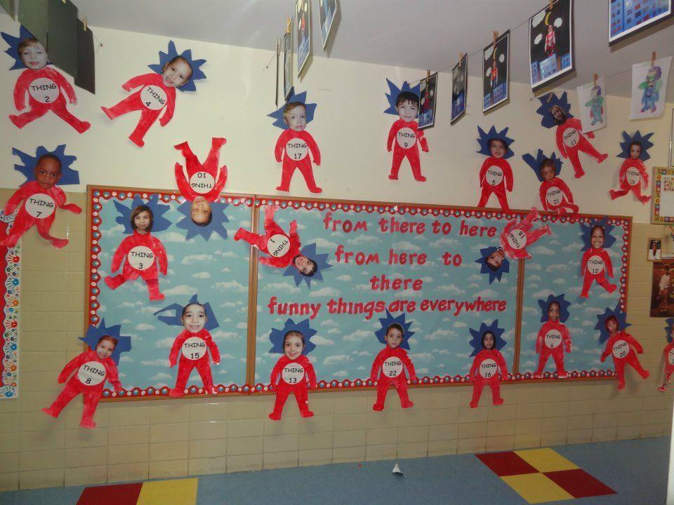 Thing 1 Thing 2 Bulletin Board Back To School Bulletin Boards Teacher Classroom Decorations School Bulletin Boards