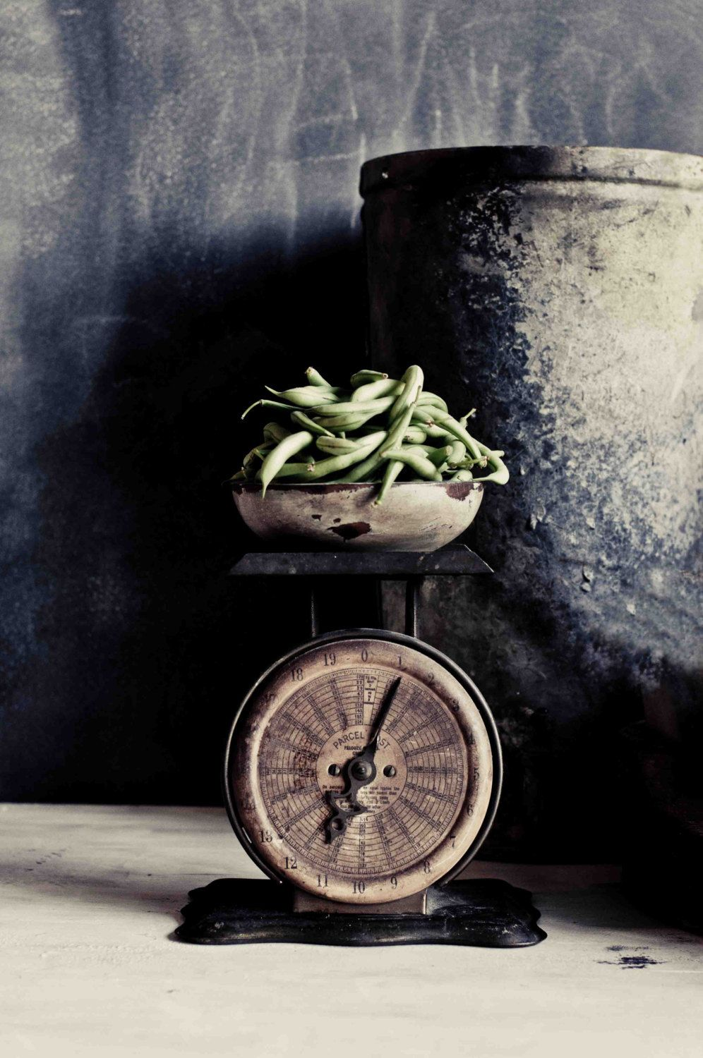Food Photography, Green Beans Photo, Black and White Photography, Still Life, Rustic, Kitchen Decor, Fine Art Photography, Vegetable Photo by StephanieSchamban on Etsy