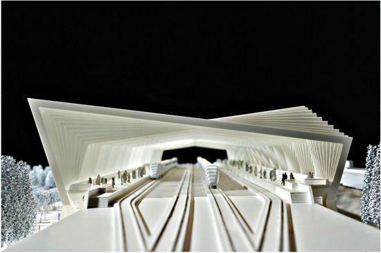Architectural Model - Stazione Reggio Emilia AV Mediopadana, Santiago Calatrava