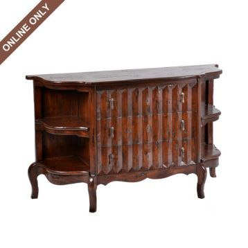 Wood Drapery Front Chest