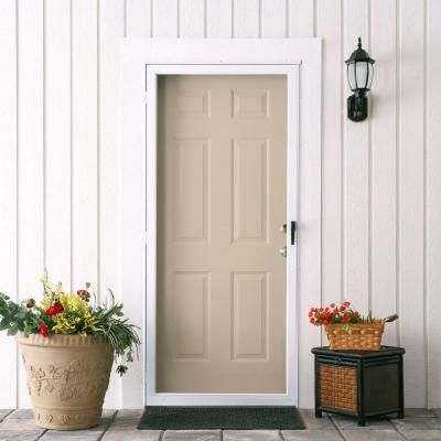 Emco 75 Series 36 In White Fullview Storm Door E75fv 36wh At The Home Depot