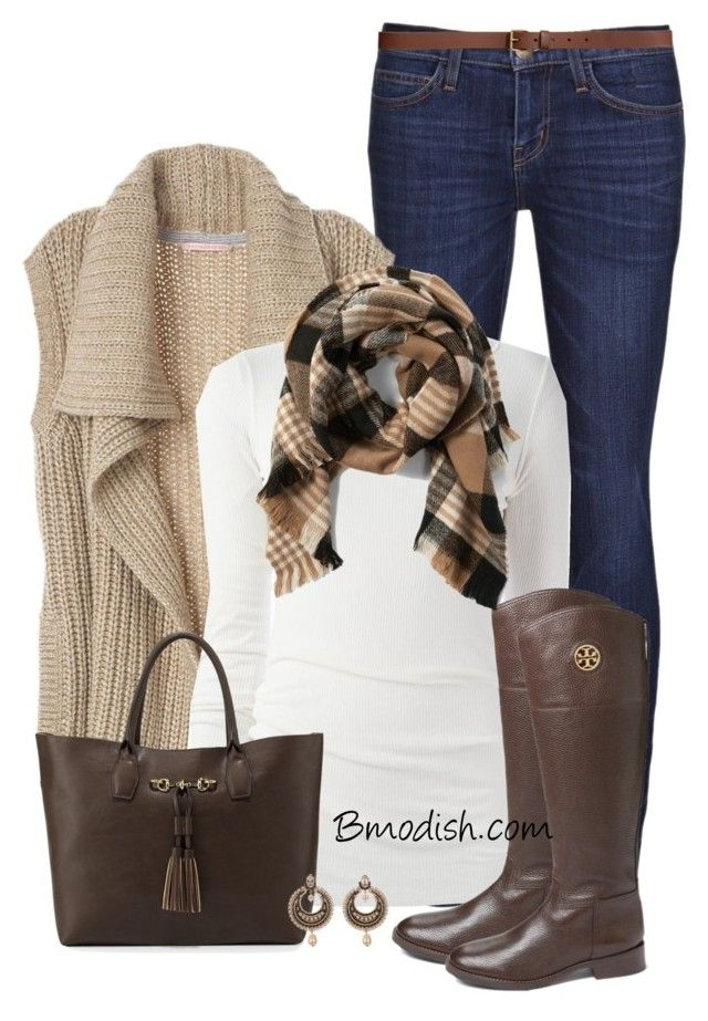 Knit Vest by wulanizer on Polyvore featuring Rick Owens, Current/Elliott, Tory Burch, Neiman Marcus, Givenchy, Abercrombie & Fitch and H&M
