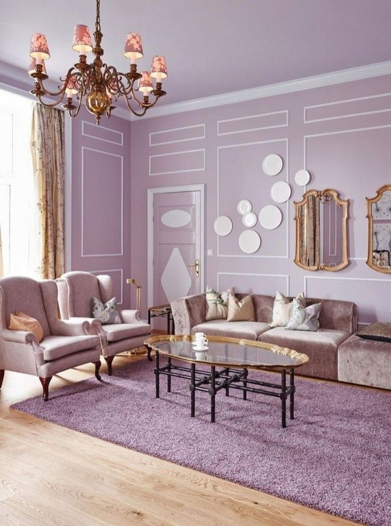 Violet Room Design: 40+ Elegant Interior Room Design Ideas With Purple Walls