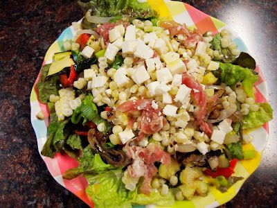 Grilled veggie salad...perfect for summer! @ My Tasty Journey
