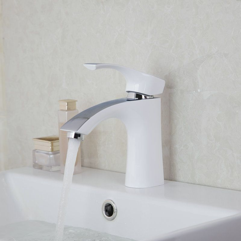 White Painting Solid Brass Bathroom Sinks Faucets,Mixers & Taps New ...
