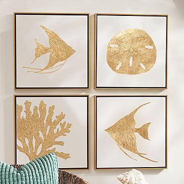 Oro Sea Life Coral I ilustraciones