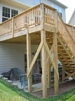 Diy Planning A Backyard Rec Room Getgoing Nc Second Story Deck Building A Deck Deck Building Plans