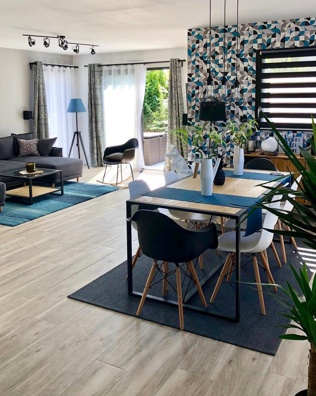 Deco Salon Marron Et Bleu Épinglé par atun sur deco salon en 2020 | déco salon canapé