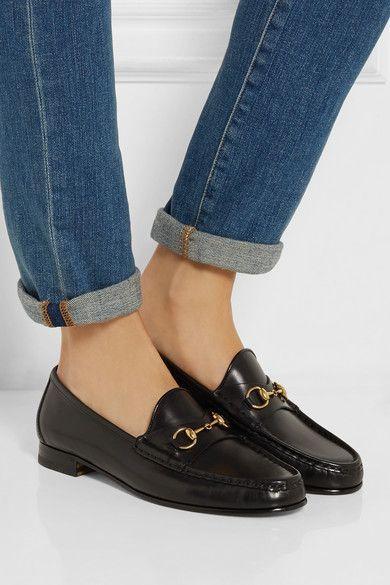 black horsebit loafer