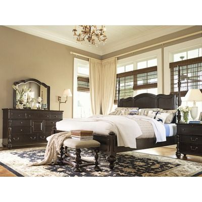 Paula Deen Home Savannah Four Poster Bed in Tobacco For the Home - Poster Bedroom Sets