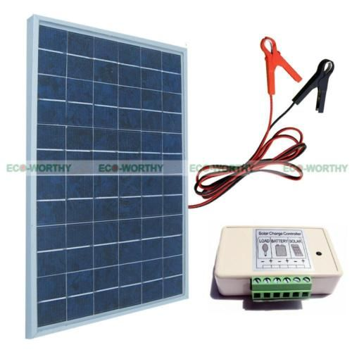 10w Watt Solar Panel Pv Solar System Kit W 3a Charge Controller Battery Clips Solar System Kit Solar Technology Solar