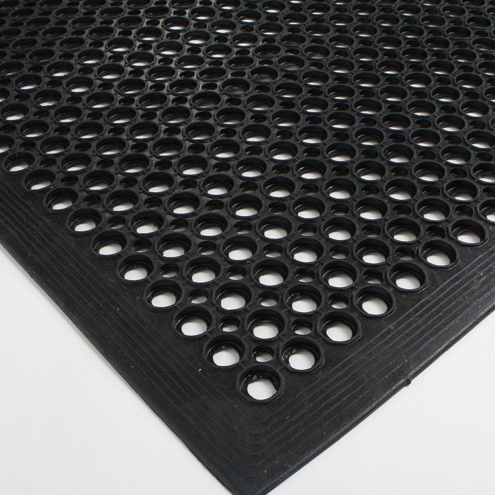 Rubber floor mats bathroom - Fch Rubber Floor Mat 36x60 Inch Anti Fatigue Drainage Mat For Wet