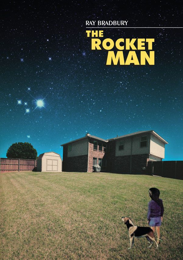 What is Ray Bradbury's tone about the rocket men?