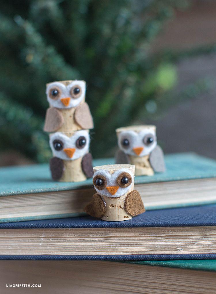 Diy cork owl craft felt crafts pinterest owl crafts cork and owl diy cork owl craft lia griffith solutioingenieria Images