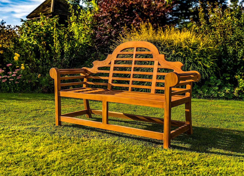 Kingfisher Ornately Curved Teak Bench Outdoor Garden Furniture Teak Garden Bench Teak Bench Outdoor Garden Bench