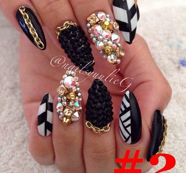 blinged design nail mania