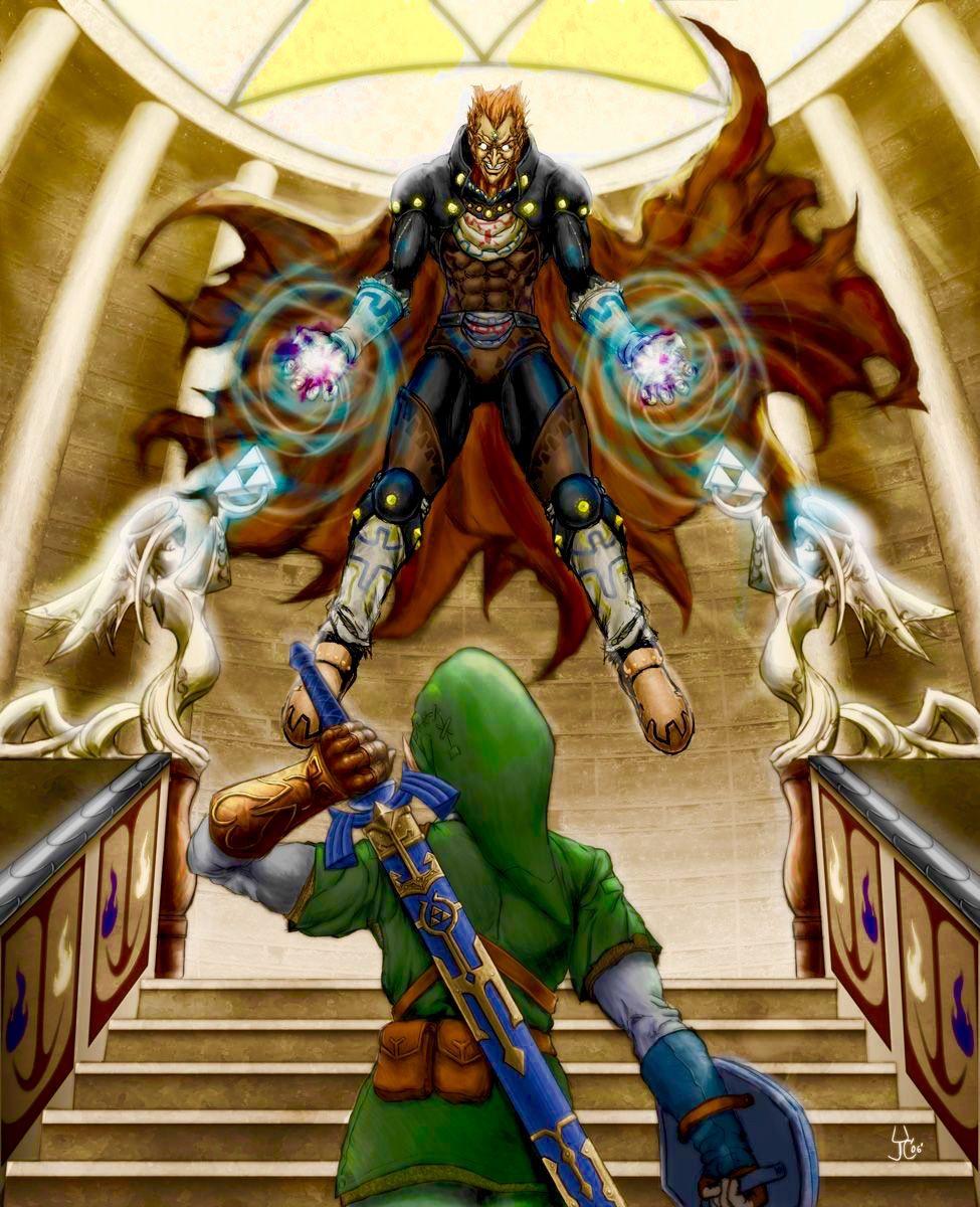 Link Vs Ganon Ocarina Of Time Legend Of Zelda Cartoon