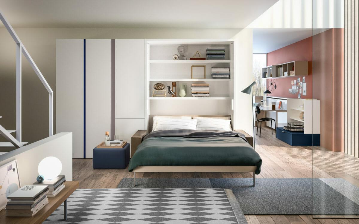 Penelope 2 Sofa 177cm Motorized Floor Model Resource Furniture Murphy Wall Beds Bed Wall