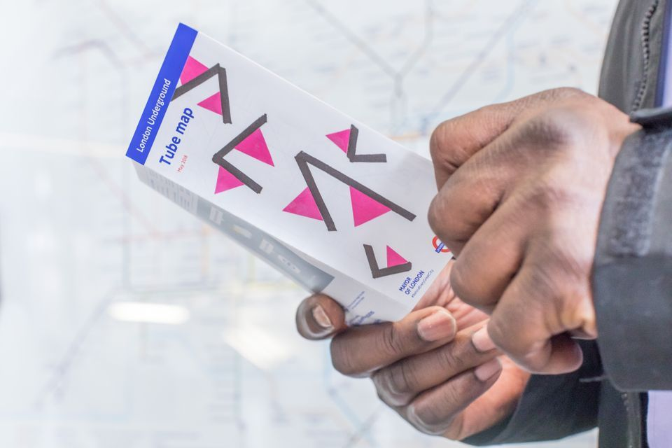 28th edition Pocket Tube map for Geta