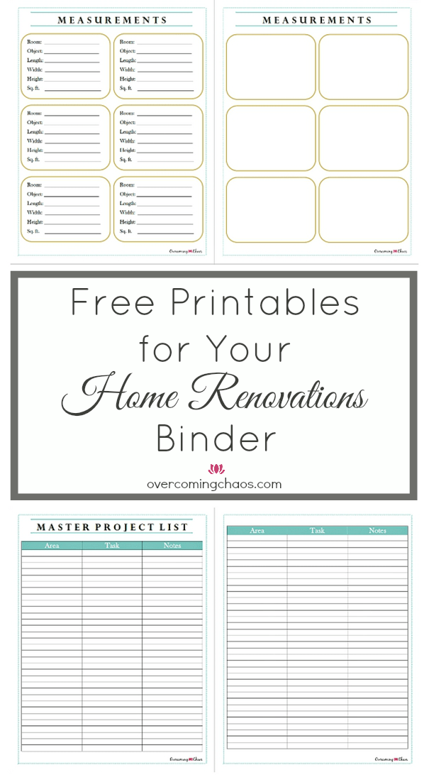 Our Home Renovations Binder And Free Printables For You