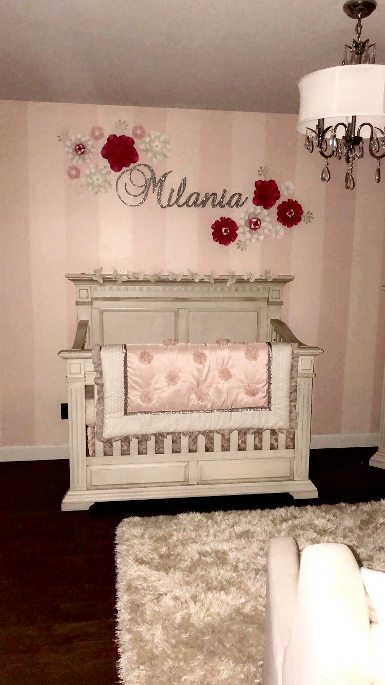 Pink And Silver Theme Baby Girls Room Baby Room Themes Baby