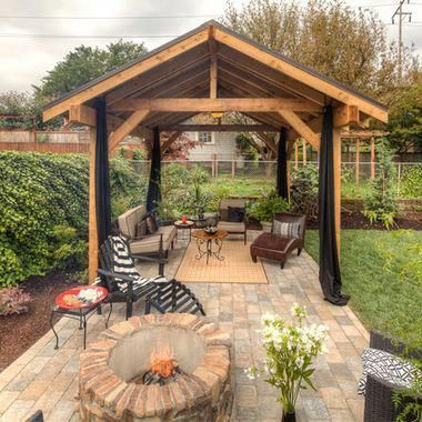 pavilion fire pit covered outdoor pavilion covered on best large backyard ideas with attractive fire pit on a budget id=43049