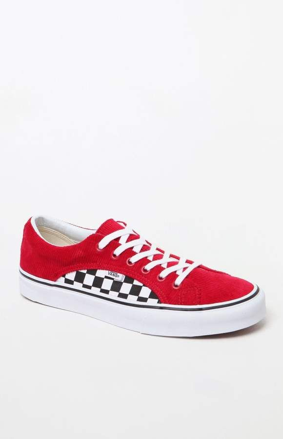 dc773eb132 Vans Lampin Red   Checkerboard Shoes