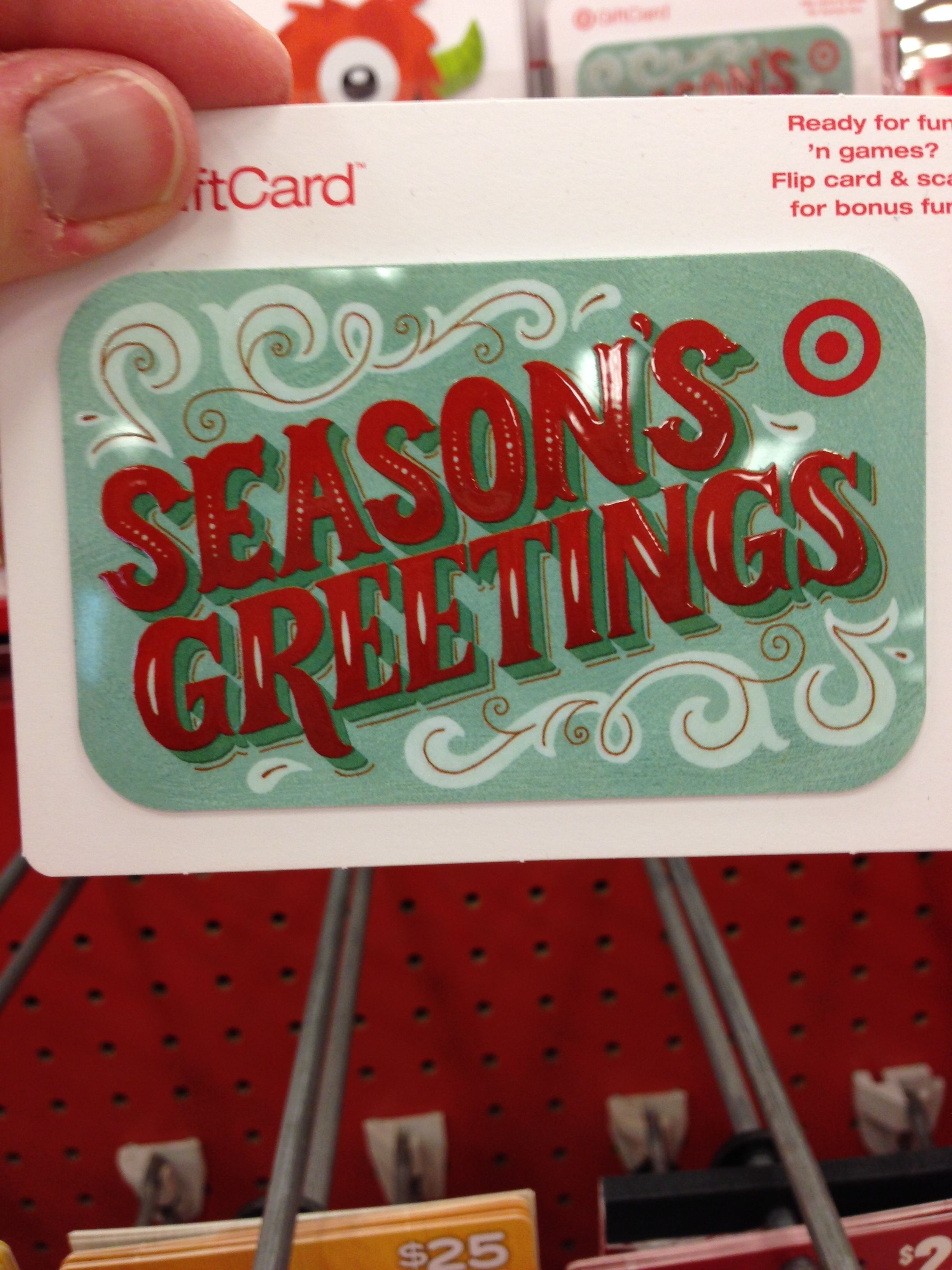 Winter Holiday Themed Gift Cards - Target Stores (2013)
