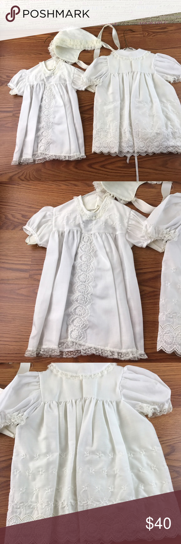 👶vintage 👶babtismal set Vintage babtismal set no stains. Excellent condition madonna by hadad Dresses
