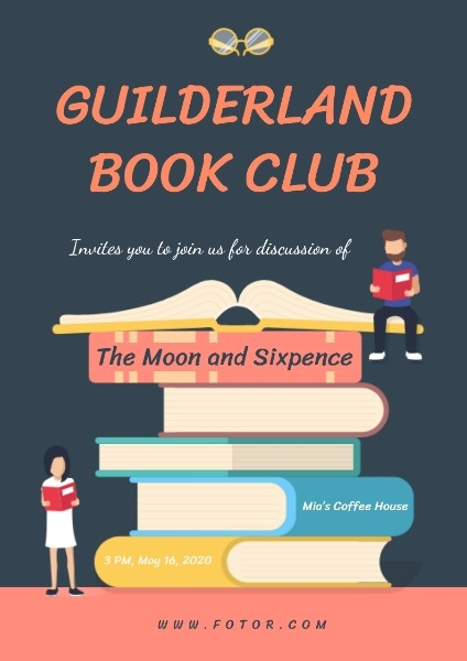 Want To Make A Guilderland Book Club Poster If You Are Interested Click The Link And Get The Templates Poste Club Poster Company Profile Template Book Club