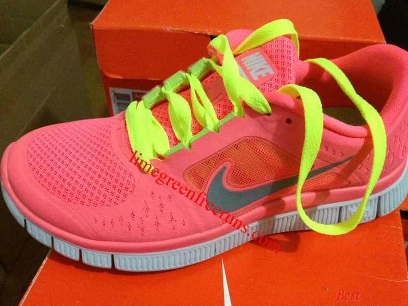 Nike Free Run 3 Mens Wolf Grey Volt Red
