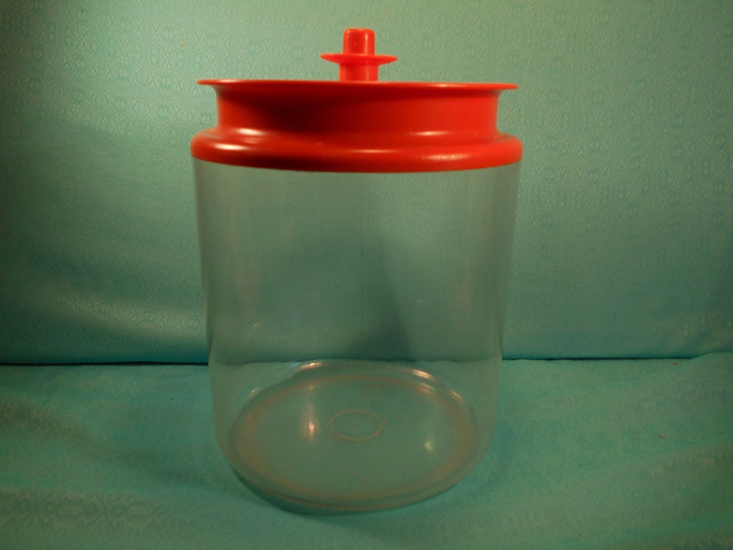 Tupperware Canister 13 1 2 Cup Vintage Tupperware Counter Parts Canister Clear W Orange Lid Vintage Tupperware Tupperware Canisters Tupperware