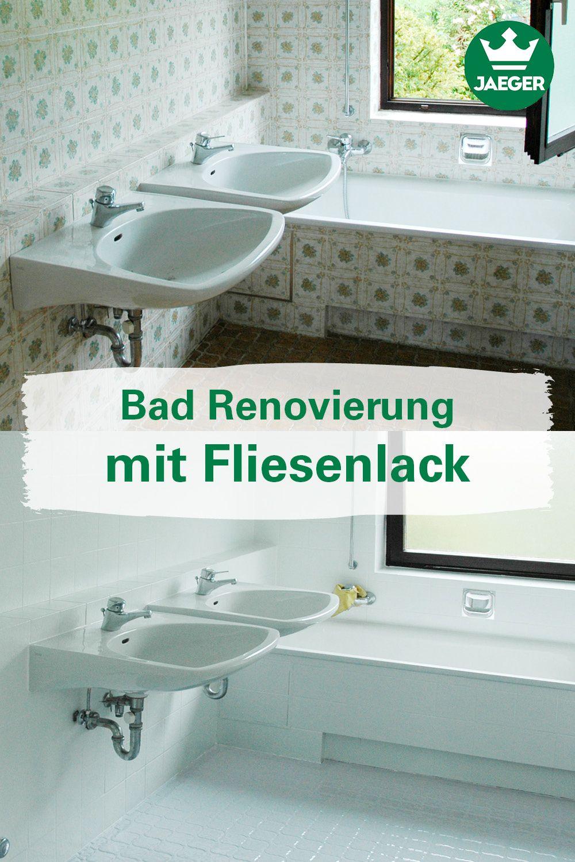 Bad Renovierung Mit Fliesenlack Fliesenlack Alte Fliesen Fliesen Uberstreichen