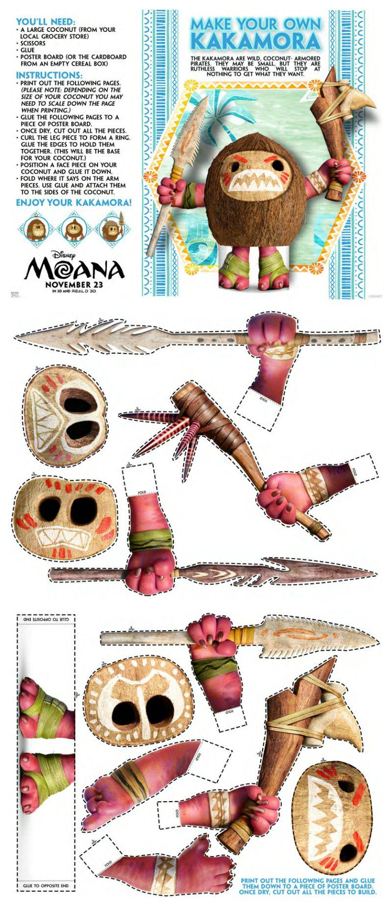 Disney Moana Make Your Own Kakamora Craft