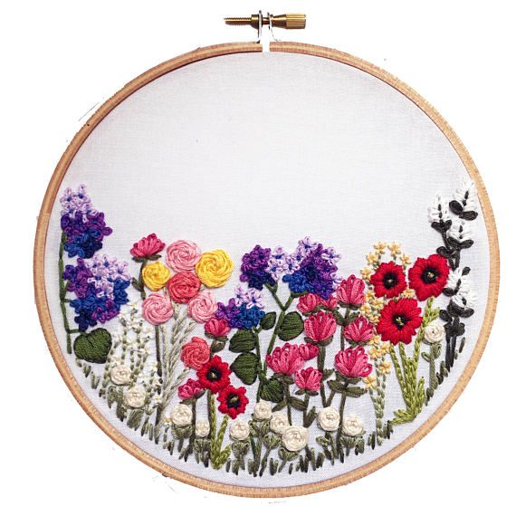 Printable Flower Hand Embroidery Pattern Diy Embroidery Art