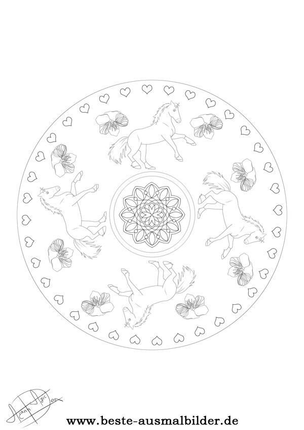 Beste Ausmalbilder Mandala Pferd Malvorlagen Pferde Ausmalen