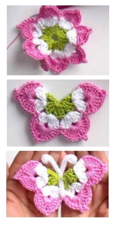 You\'ll Love These Crochet Butterflies | Pinterest | Häkeln ...