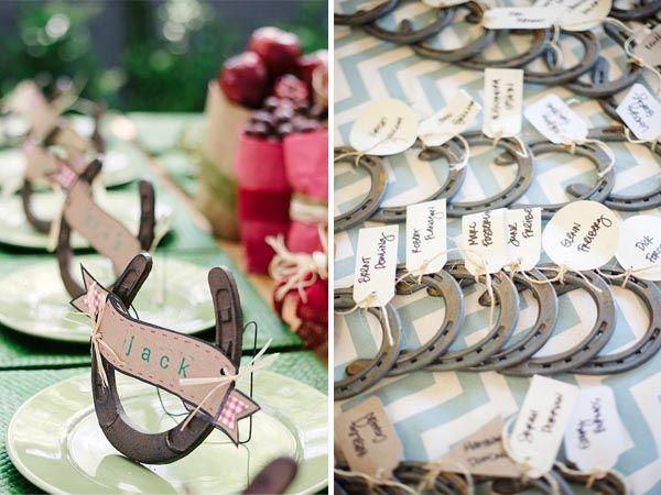 Hochzeitsidee 2014 romantische pferd themen hochzeit - Hufeisen basteln ...
