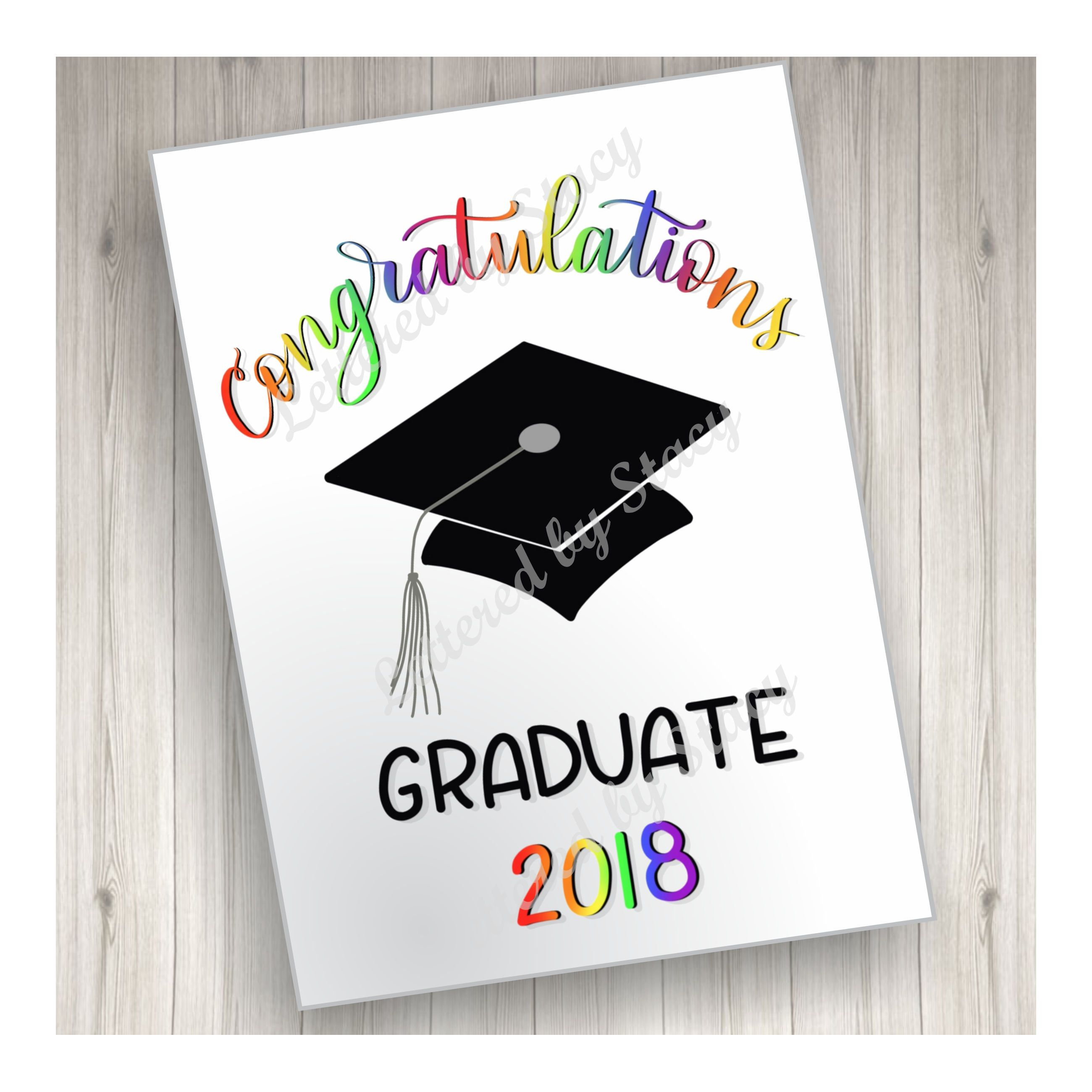 Graduation Card Congratulations Graduate Downloadable Card