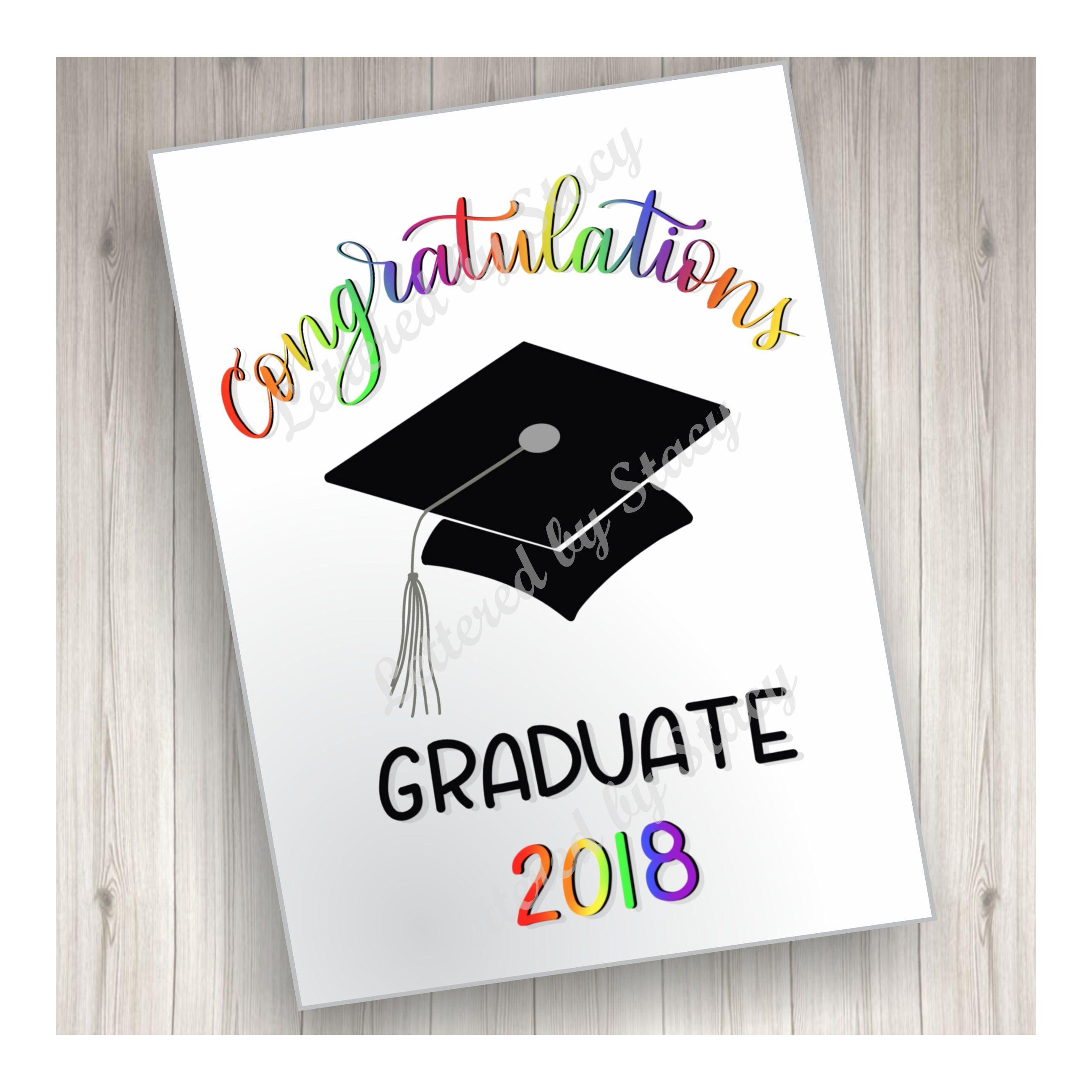 Congratulations Graduate Printable Greeting Card