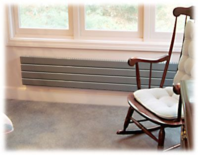 Aluminum Or Satin Nickel Colored Runtal Wall Radiator Baseboard