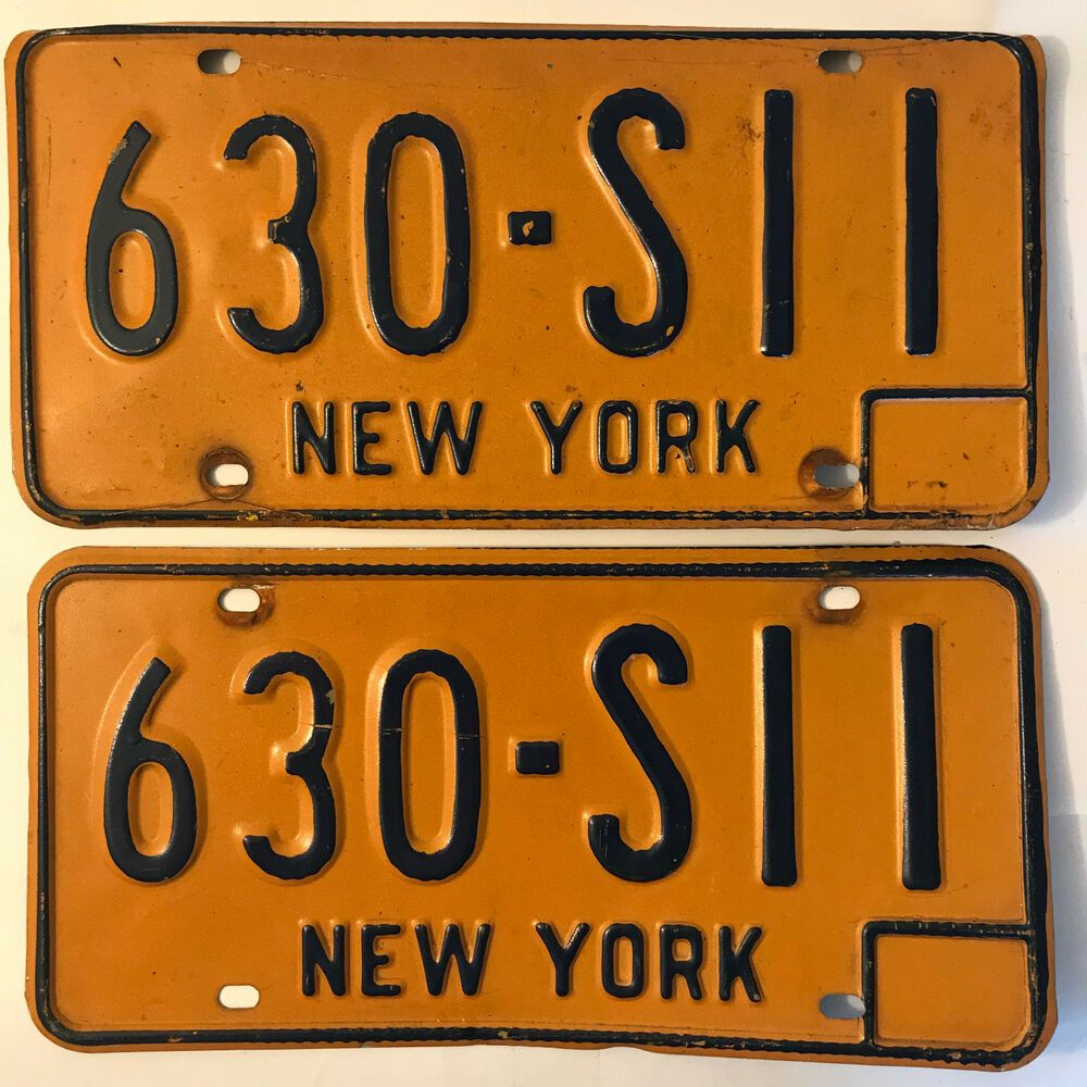 New York Ny License Plate 1973 To 1986 Pair 630sii License