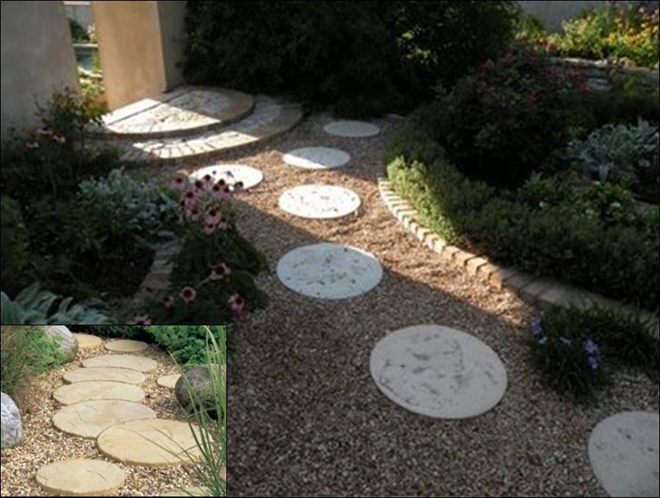 Round Patio Stone And Moon Stone