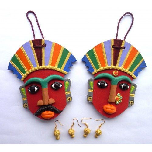 Buy Decorative Masks Online India Beautiful Terracotta Masks As Wall Hangings  Handicrafts