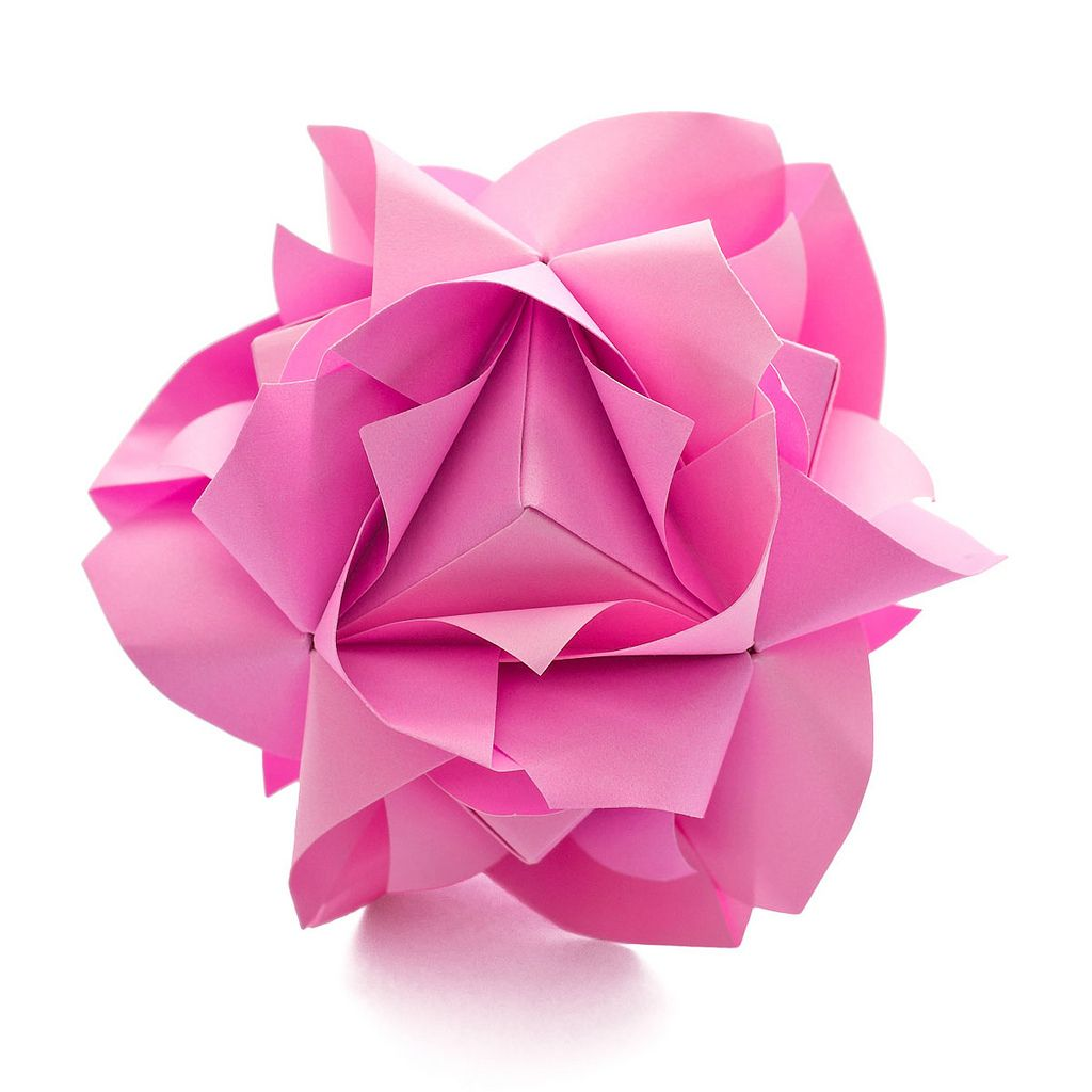 Modular Origami: How to Make a Cube, Octahedron & Icosahedron from ...   1024x1024