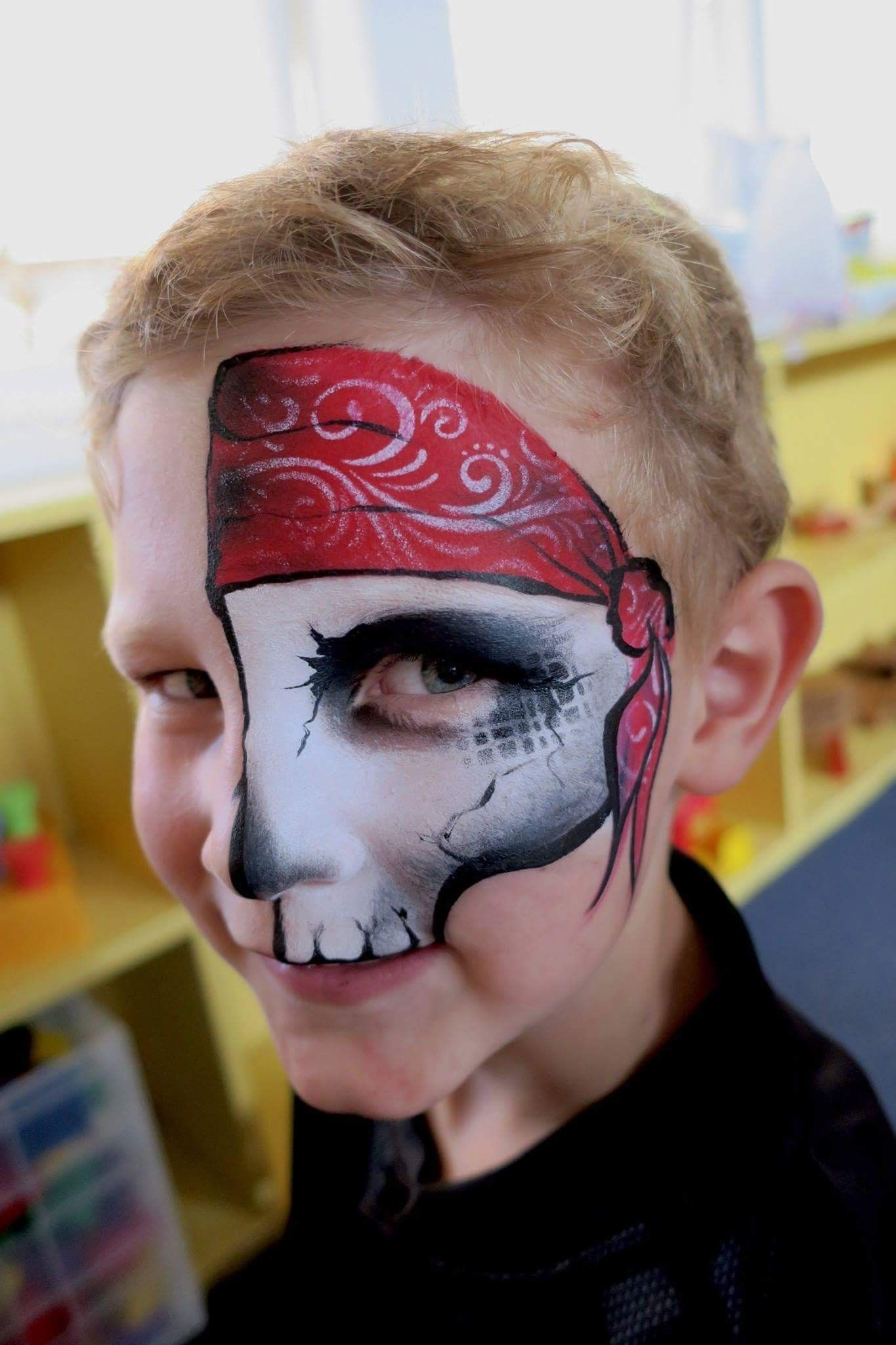 Cool pirate face painting halloween kids face painting
